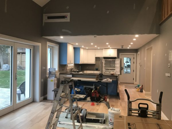 Robinson kitchen during install